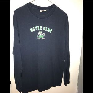 Notes Dame long sleeve t-shirt size large L